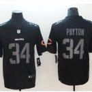 Men's Chicago bears #34 Walter Payton Limited jersey Black Hyphenation