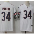Men's Chicago bears #34 Walter Payton color rush Limited jersey white