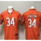 Men's Chicago bears #34 Walter Payton color rush Limited jersey orange