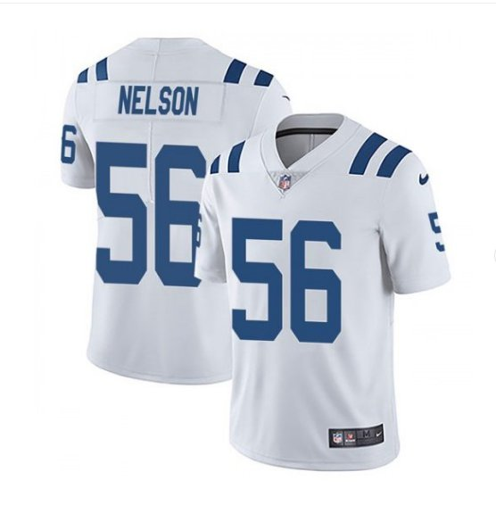 Men's Indianapolis Colts #56 Quenton Nelson color rush Limited jersey white