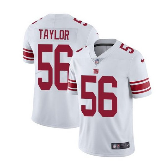 Men's NY Giants #56 Lawrence Taylor color rush Limited jersey white red