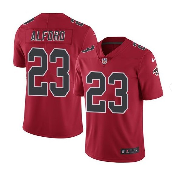 Men's Atlanta Falcons #23 Robert Alford color rush Limited jersey red
