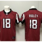 Men's Atlanta Falcons #18 Calvin Ridley color rush Limited jersey red