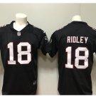 Men's Atlanta Falcons #18 Calvin Ridley color rush Limited jersey black