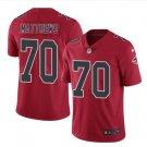 Men's Atlanta Falcons #70 Jake Matthews color rush Limited jersey red