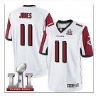 Men's Atlanta Falcons #11 Julio Jones super bowl jersey white