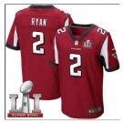 Men's Atlanta Falcons #2 Matt Ryan super bowl jersey red