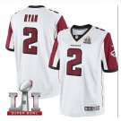 Men's Atlanta Falcons #2 Matt Ryan super bowl jersey white