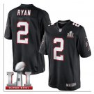 Men's Atlanta Falcons #2 Matt Ryan super bowl jersey black