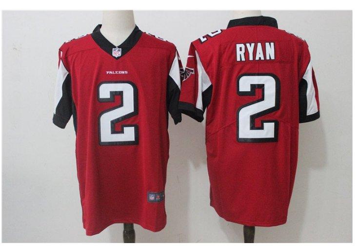Men's Atlanta Falcons #2 Matt Ryan color rush Limited jersey red