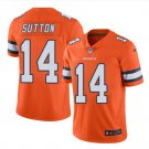 Men's Broncos #14 Courtland Sutton Color Rush Jersey Orange