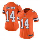 Women's Broncos #14 Courtland Sutton Color Rush Jersey Orange