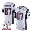 Men's Patriots 87 Rob Gronkowski super bowl Jersey white