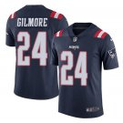 Men's Patriots 24 Stephon Gilmore Color Rush Limited Jersey navy blue