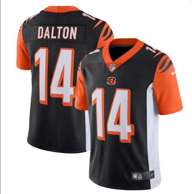 Men Bengals #14 Andy Dalton vapor untouchable Color Rush Limited Jersey black
