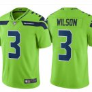 Men Seahawks #3 Russell Wilson vapor untouchable Color Rush Limited Jersey green