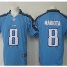 Men Titans #8 Marcus Mariota vapor untouchable Color Rush Limited Jersey blue