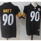 Men's Steelers #90 T.J Watt color rush Limited jersey black