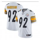 Men's Steelers #92 James Harrison color rush Limited jersey white