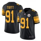 Men's Steelers #91 Stephon Tuitt color rush Limited jersey black