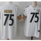 Men's Steelers #75 Joe Greene color rush Limited jersey white