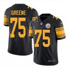 Men's Steelers #75 Joe Greene color rush Limited jersey black