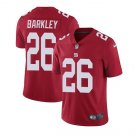 Men's New York Giants #26 saquon barkley color rush Limited jersey red