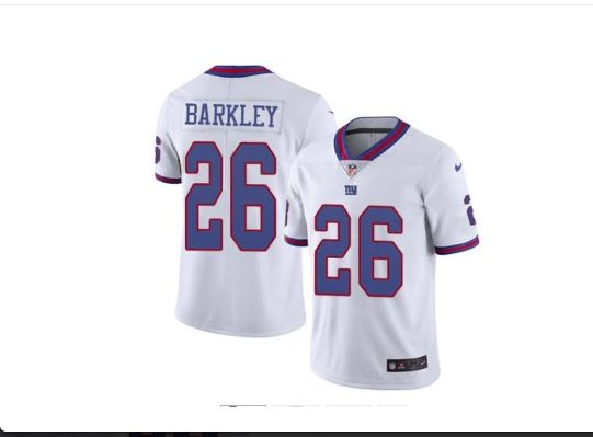 Men's New York Giants #26 saquon barkley color rush Limited jersey white