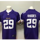 Men's Vikings #29 Xavier Rhodes color rush Limited jersey purple