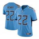 Men's Tennessee Titans #22 Derrick Henry color rush Jersey light blue