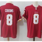 Men's Redskins #8 Kirk Cousins color rush Limited jersey red
