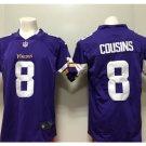 Men's Vikings #8 Kirk Cousins color rush Limited jersey purple