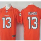Men's Dolphins #13 Dan Marino color rush Limited jersey orange