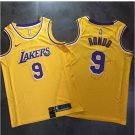 Men's Lakers #9 Rajon Rondo Jersey Yellow Fine Embroidery NEW