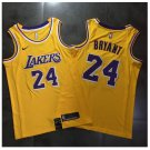 Men's Lakers 24 Kobe Bryant Jersey Yellow Fine Embroidery NEW