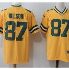 Men's Packers #87 Jordy Nelson color rush Limited jersey yellow