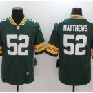 Men's Packers #52 Clay Matthews color rush Limited jersey green
