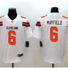 Men's Browns #6 Baker Mayfield color rush Limited jersey white