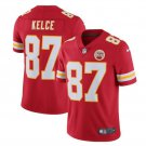 Men's KC Chiefs #87 Travis Kelce color rush Limited jersey red