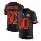 Men's KC Chiefs #50 Justin Houston color rush Limited jersey black