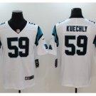 Mens Carolina Panthers #59 Luke Kuechly color rush Limited jersey white
