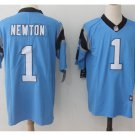 Men's Carolina Panthers #1 Cam Newton color rush Limited jersey blue