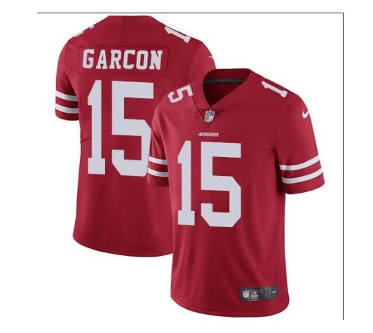 Men's 49ers #15 Pierre Garcon color rush Limited jersey red