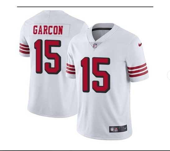 Men's 49ers #15 Pierre Garcon color rush Limited jersey white