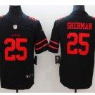 Men's 49ers #25 Richard Sherman color rush Limited jersey black