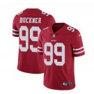 Men's 49ers #99 DeForest Buckner color rush Limited jersey red