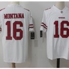 Men's 49ers #16 Joe Montana color rush Limited jersey white