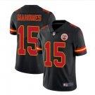 Men's KC Chiefs #15 Patrick Mahomes color rush Limited jersey black