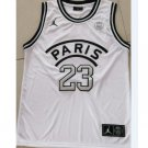 Men's Paris #23 Jordan Third 18 Noir Basketball Jersey White