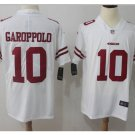 Men's 49ers #10 Jimmy Garoppolo color rush Limited jersey white
